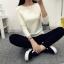 เสื้อแขนยาวแฟชั่นเกาหลี แต่งแขนลายนูนแบบลูกคลื่น สวยเก๋ นุ่มสบาย thumbnail 8
