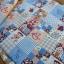 ผ้าคอตตอนไทย 100% 1/4 ม.(50x55ซม.) ลายต่อผ้าน้องซู โทนสีฟ้า thumbnail 2