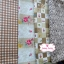 Set 4 ชิ้น : ผ้าคอตตอนไทย 3 ลาย และ ผ้าคอตตอนลินินลายตาราง โทนสีน้ำตาลอ่อน thumbnail 4