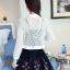 เสื้อคลุมแชั่น สีขาว - ดำ ยอดนิยม ลูกไม้ลายเก๋ๆ ใส่สบาย ระบายอากาศได้ดี thumbnail 21