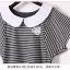 เสื้อแฟชั่นเกาหลี คลาสสิคกับเสื้อลายขวาง เพิ่มเสน่ห์ให้กับชุดด้วยเย็บคอและปกแบบตุ๊กตา thumbnail 6