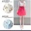 เดรสสั้นเกาหลี สกรีนลายดกอไม้หวานๆ บนผ้าชีฟอง ตัดกับกระโปรงบัลเล่ต์สีสันโดนๆ thumbnail 7