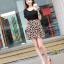 เดรสสั้นเกาหลี ดีไซน์สะดุดุตา โดดเด่นด้วยลวดลาย ใส่สบายด้วยผ้าชีฟอง thumbnail 3