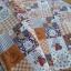 ผ้าคอตตอนไทย 100% 1/4 ม.(50x55ซม.) ลายต่อผ้าน้องซูโทนสีน้ำตาล thumbnail 2