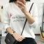 เสื้อยืดคอกลมแฟชั่น สกรีนลายน่ารักๆ ดูสวย สมวัยใส่ได้ทุกวัน thumbnail 6