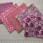 Set 5 ชิ้น: ผ้าคอตตอนไทย 5 ลาย โทนสีแดง แต่ละชิ้นขนาด 27.5 × 50 ซม. thumbnail 1