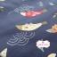 ผ้าคอตตอนญี่ปุ่น 100% 1/4ม.(50x55ซม.) พื้นสีน้ำเงิน ลายปลาคาร์ฟ thumbnail 3