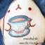 หมอนผ้าห่ม ลายกระต่าย Molang ถือแก้วชา สีครีม ## พร้อมส่งค่ะ ## thumbnail 5