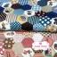 ผ้าคอตตอนไทย 100% 1/4 ม.(50x55ซม.) ลายต่อผ้าหกเหลี่ยม โทนสีชมพู น้ำตาล thumbnail 2