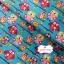 ผ้าคอตตอน 100% 1/4 ม.(50x55ซม.) พื้นสีฟ้า ลายนกฮูกแฟนตาซี thumbnail 3