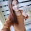 เดรสสั้นเกาหลี สำหรับสาวๆ ใส่ต้อนรับหน้าหนาว เน้อผ้าหนานุ่ม แขนยาว ปกป้องผิวจากลมหนาว thumbnail 1