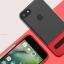 (Sale) เคสไอโฟนรุ่นป้องกันกล้อง+กันกระแทก+ขาตั้งพับได้ (Upper TPU ใส +Lower PC เขียว) IPhone 7 thumbnail 4