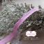 ริบบิ้นผ้าแถบ สีชมพู แต่งลายเส้น กว้าง 1 ซ.ม. แบ่งขายเป็นหลา thumbnail 2