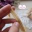 ริบบิ้นผ้าแถบ สีครีมน้ำตาล ลายเส้นปะสีเขียว สลับสีครีม กว้าง 1 ซ.ม. แบ่งขายเป็นหลา thumbnail 1