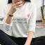 เสื้อยืดคอกลมแฟชั่น สกรีนลายน่ารักๆ ดูสวย สมวัยใส่ได้ทุกวัน thumbnail 7