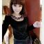 เสื้อแฟชั่นเกาหลีใหม่ ผ้ากำมะหยี่สีมันวาว ตกแต่งคอเสื้อด้วยเพชรสีสันสวยงาม thumbnail 6