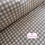 ผ้าคอตตอนลินิน 1/4ม.(50x55ซม.) พื้นสีครีม ลายตารางสีน้ำตาล thumbnail 2