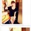 เสื้อยืดแฟชั่นเกาหลี สีพื้นตัดกับลายจุดด้านหลังของตัวเสื้อ กระเป๋าด้านหน้า thumbnail 3