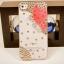 เคสไอโฟน 5/5s (Case iphone 5/5s) เคสไอโฟนกรอบโปร่งใส ประดับเพชรและผีเสื้อปีกสีชมพู thumbnail 1