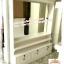 ตู้โชว์กระจกเงากรุหลังวินเทจสีขาวสำหรับร้านค้า thumbnail 3