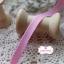 ริบบิ้นผ้าแถบ สีชมพู แต่งลายเส้น กว้าง 1 ซ.ม. แบ่งขายเป็นหลา thumbnail 1