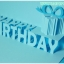 A09 การ์ดป๊อปอัพ Happy BirthDay สีฟ้า thumbnail 2