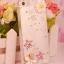 เคสไอโฟน 5/5s/SE (Case Iphone 5/5s/SE) กรอบโปร่งใส ประดับดอกไม้และเพชร เรียบหรู thumbnail 1