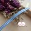 ริบบิ้นผ้า ลายสก๊อตสีฟ้า-ขาว กว้าง 0.5 ซม. thumbnail 2