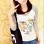 เสื้อยืดแขนยาวแฟชั่นลายอูฐน่ารักๆ จากเกาหลี thumbnail 1