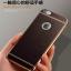เคสไอโฟน 7 (TPU Case) ลายหนังสีน้ำตาล ขอบทองคลุมรอบเครื่อง thumbnail 1