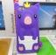 เคสไอโฟน 5/5s/SE (Case Iphone 5/5s/SE) เคสซิลิโคน หมูน้อย สีม่วง thumbnail 1