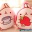 หมอนผ้าห่ม ลายกระต่าย Molang ถือสตรอเบอร์รี่ สีชมพู ## พร้อมส่งค่ะ ## thumbnail 6