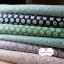 ผ้าคอตตอนไทย 100% 1/4 ม.(50x55ซม.) พื้นสีเขียว ลายดอกไม้เล็ก thumbnail 2