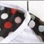 เสื้อยืดแฟชั่นเกาหลี สีพื้นตัดกับลายจุดด้านหลังของตัวเสื้อ กระเป๋าด้านหน้า thumbnail 14