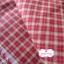 ผ้าทอญี่ปุ่น 1/4ม.(50x55ซม.) ลายตารางโทนสีแดง thumbnail 3