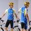 ชุดปั่นจักรยาน เสื้อปั่นจักรยานแขนสั้น + กางเกงปั่นจักรยานขาสั้น thumbnail 1