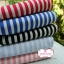 ผ้าคอตตอนไทย 100% 1/4 ม.(50x55ซม.) ลายทางน้ำเงินขาว thumbnail 2