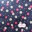 ผ้าคอตตอนไทย 100% 1/4 ม.(50x55ซม.) พื้นสีน้ำเงิน ลายจุดสีขาว และดอกไม้สีแดง thumbnail 3