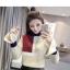 เสื้อกันหนาวแฟชั่น ดีไซน์เล่นสีสันเก๋ๆ ปล่อยปลายแขนกว้างกำลังดี น่าสวมใส่ thumbnail 2