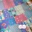 ผ้าคอตตอนเกาหลีแท้ 100% 1/4 เมตร (50x55 cm.) ลายแพทเวิค โทนสีฟ้า thumbnail 3