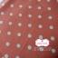 ผ้าคอตตอนลินิน 1/4ม.(50x55ซม.) พื้นสีส้มอิฐ ลายจุดสีขาว thumbnail 3