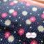 ผ้าคอตตอนไทย 100% 1/4 ม.(50x55ซม.) พื้นสีน้ำเงิน ลายจุดสีขาว และดอกไม้สีแดง thumbnail 2
