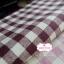 ผ้าคอตตอนลินิน 1/4ม.(50x55ซม.) ลายตารางสีน้ำตาลเข้ม thumbnail 3