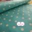 ผ้าคอตตอนลินิน 1/4ม.(50x55ซม.) พื้นสีฟ้า ลายจุดสีขาว thumbnail 1