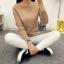 เสื้อแขนยาวแฟชั่นเกาหลี แต่งแขนลายนูนแบบลูกคลื่น สวยเก๋ นุ่มสบาย thumbnail 17
