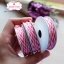 เชือกสีชมพูเข้มสลับสีขาว 1ม้วน (ยาว 2 หลา) thumbnail 3