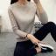 เสื้อแขนยาวแฟชั่นเกาหลี แต่งแขนลายนูนแบบลูกคลื่น สวยเก๋ นุ่มสบาย thumbnail 5