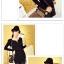 เสื้อแฟชั่นเกาหลีแขนยาวสไตล์ย้อนยุค ตกแต่งคอเสื้อและชายเสื้อด้วยด้ายสีทอง thumbnail 6