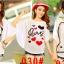 เสื้อยืดแฟชั่นคอกลม แขนค้างคาว สกรีนลายน่ารักๆ ใส่สบายๆ ตามสไตล์วัยรุ่น SET3 thumbnail 12