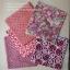 Set 5 ชิ้น: ผ้าคอตตอนไทย 5 ลาย โทนสีแดง แต่ละชิ้นขนาด 27.5 × 50 ซม. thumbnail 2